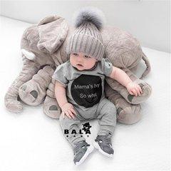 宜家大象安抚抱枕头毛绒玩具公仔