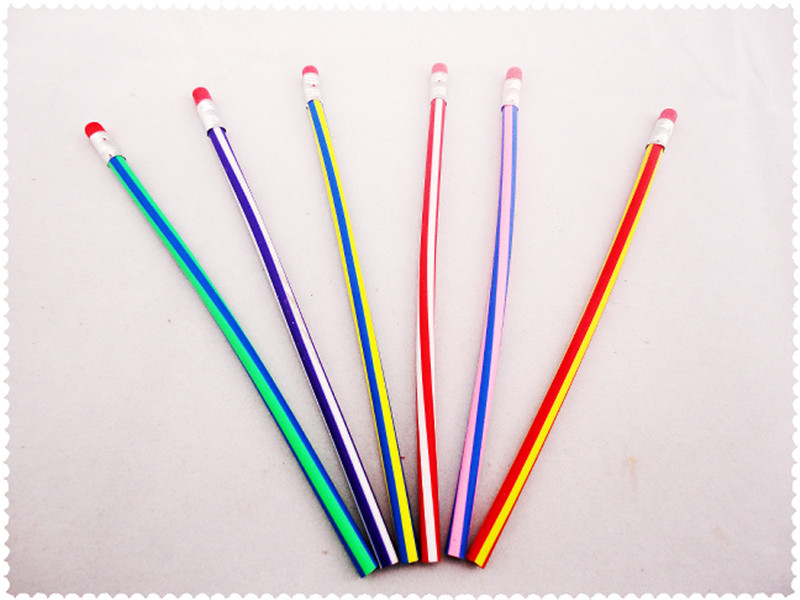创意弯曲软铅笔1