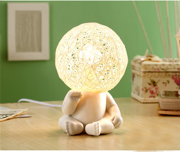 创意儿童房陶瓷大头调光灯2