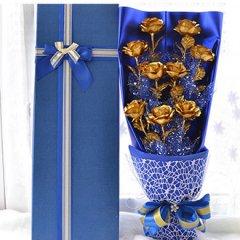 金箔玫瑰花创意礼品表白礼物