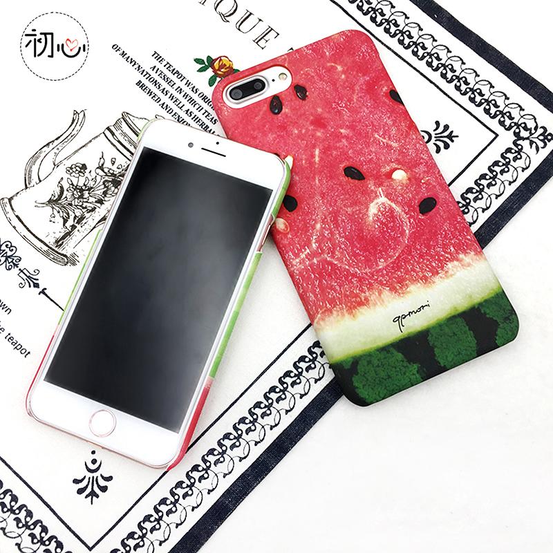 夏天新款创意西瓜可爱小清新苹果7手机壳