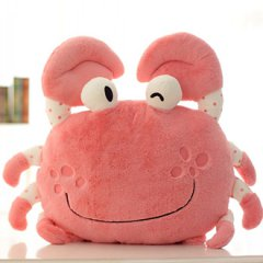 创意螃蟹抱枕靠垫靠枕