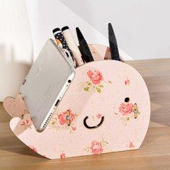 创意鲸鱼手机支架手机座小物件桌面收纳盒