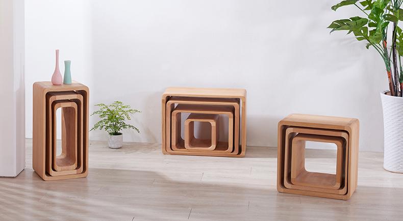创意格子置物架可折叠自由组合实木框