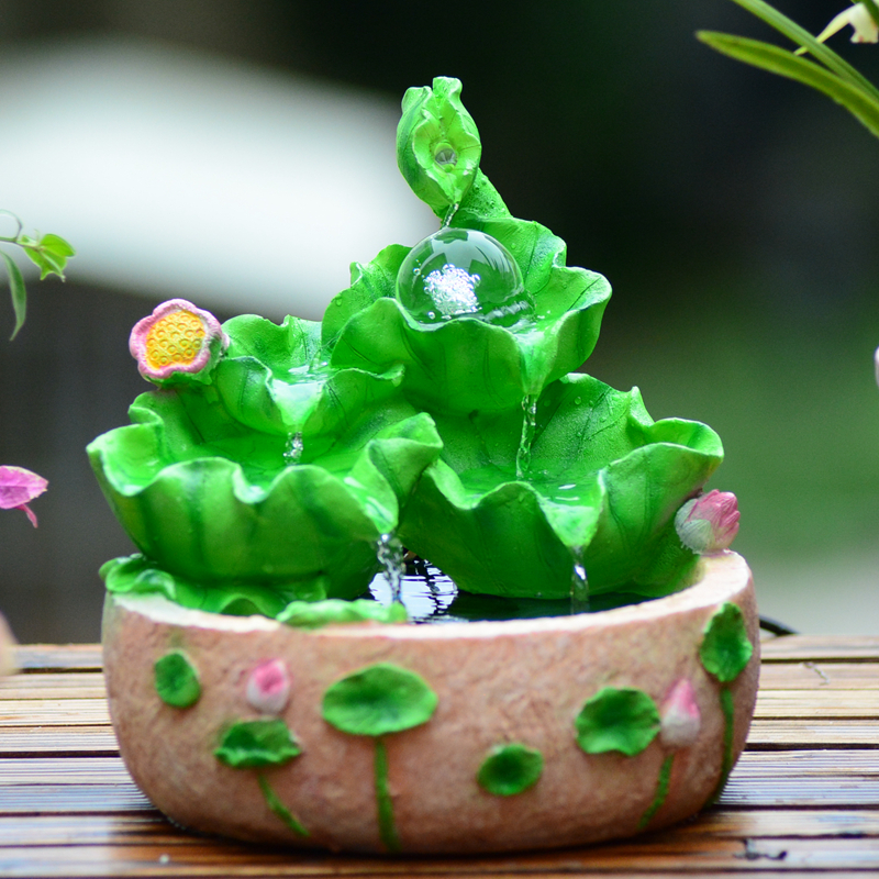 创意流水喷泉养鱼缸实婚庆礼物