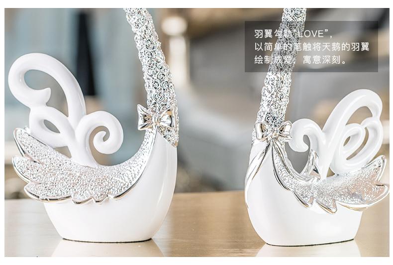 创意结婚礼物实用摆件天鹅工艺礼品