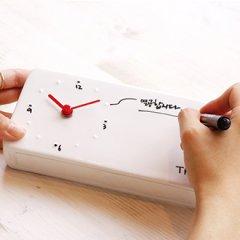 可写字涂鸦陶瓷备忘录钟表创意桌面台钟红点奖