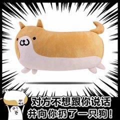 搞怪柴犬二次元抱枕动漫周边毛绒靠垫