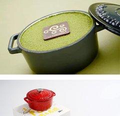 志明春娇抹茶新鲜珐琅锅生日蛋糕