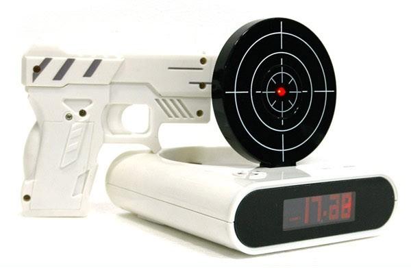 创意手枪打靶射击闹钟 产品详情