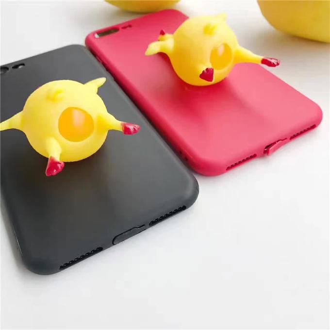 创意搞怪减压下蛋鸡手机壳