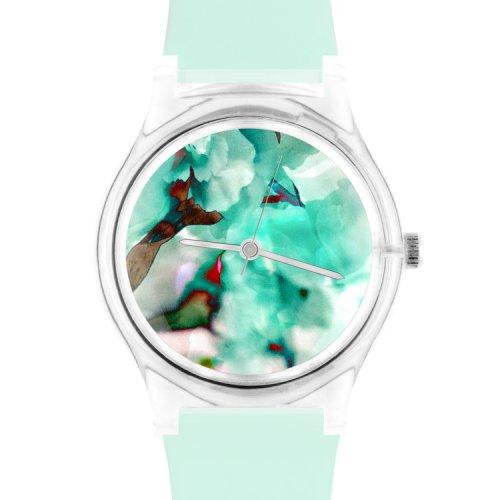MAY28TH极简设计感樱花薄荷色女士石英手表