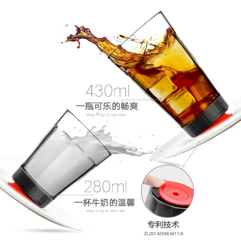 台湾创意冰山不倒杯子