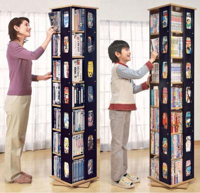 简易学生旋转书架落地置物架