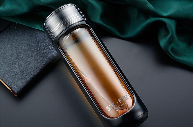 富光新品玻璃瓶耐热玻璃水杯3