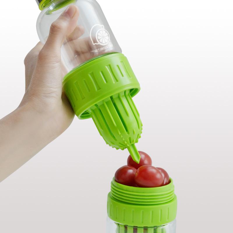 创意耐热便携榨汁玻璃瓶杯子2