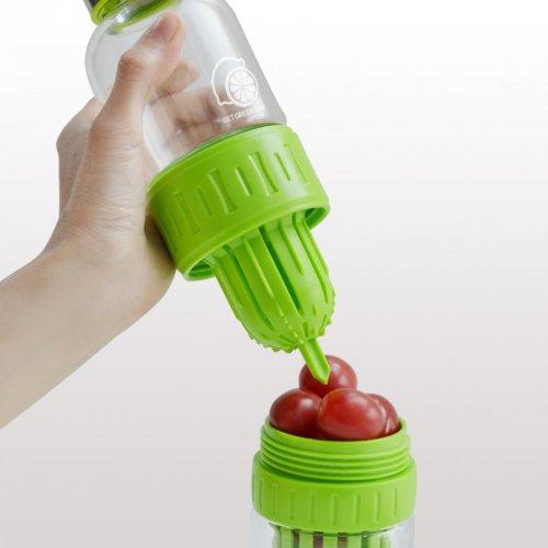 创意耐热便携榨汁玻璃瓶杯子
