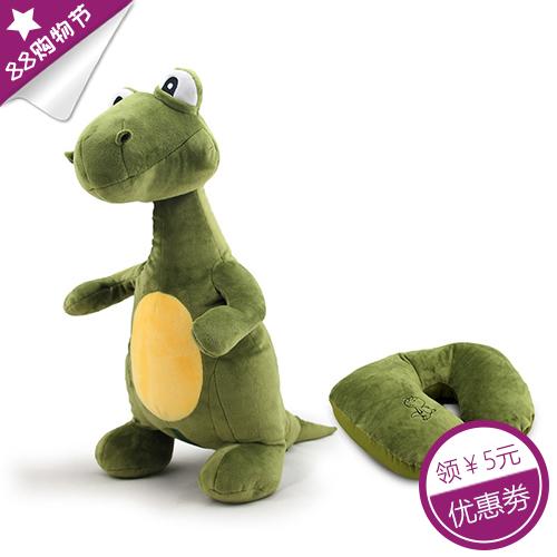 创意恐龙变形U型枕创意抱枕