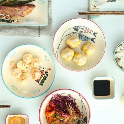 情侣碗筷二人食创意陶瓷餐具创意结婚礼物