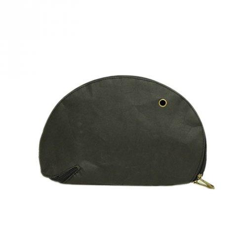 复古潮范搞怪暗可水洗牛皮纸黑贝壳包手包
