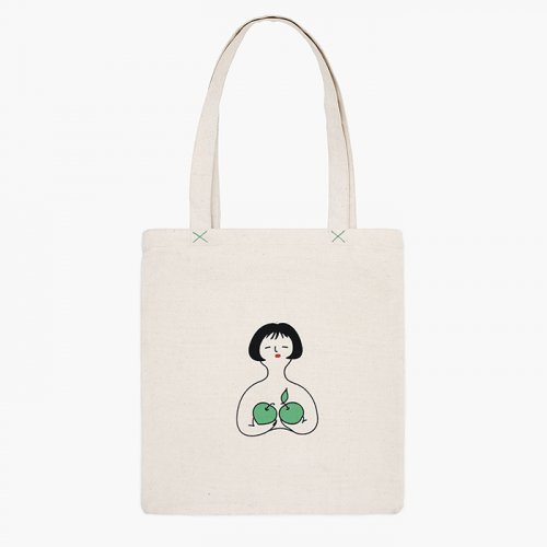 创意果子bra帆布包女单肩手提袋清新款