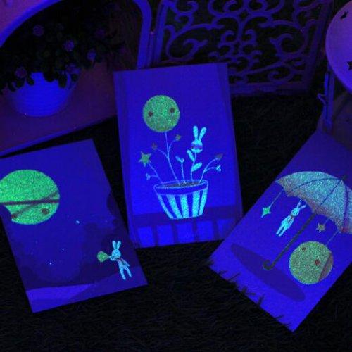 时尚夜光创意明信片礼物祝福贺卡