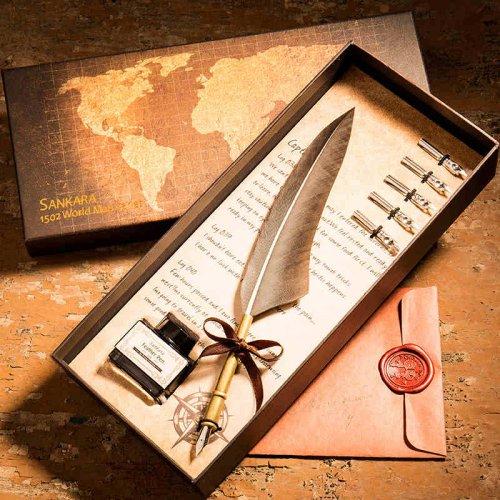 天然羽毛钢笔新奇浪漫生日礼物