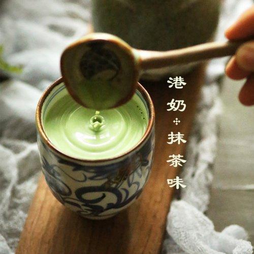 抹茶控|抹茶味港式奶茶不含植脂末
