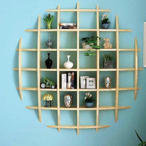 客厅置物架实木茶壶展示架隔板饰物架