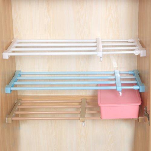 免钉伸缩衣柜收纳分层隔板