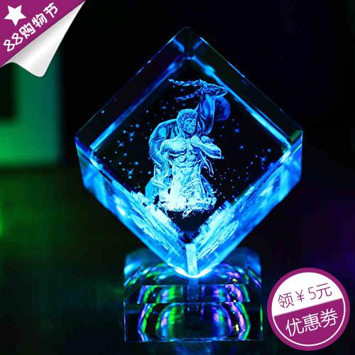 水晶魔方星座内雕摆件教师节礼物