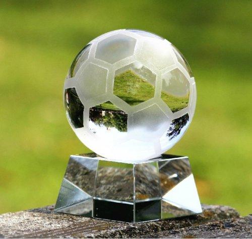 水晶足球模型球迷刻字纪念品