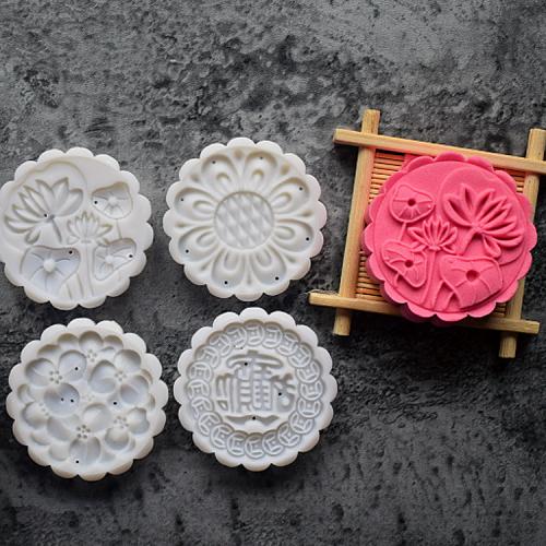 手压式中秋节家用卡通套装月饼模具