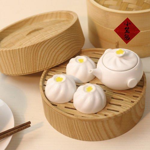 创意茶具包子外形中秋节礼物