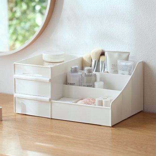 大号抽屉式桌面化妆品收纳盒