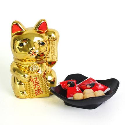 招财猫糖果盒储钱罐春节礼品