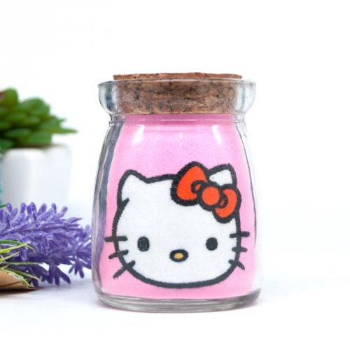 凯蒂猫沙画瓶创意新年春节礼品