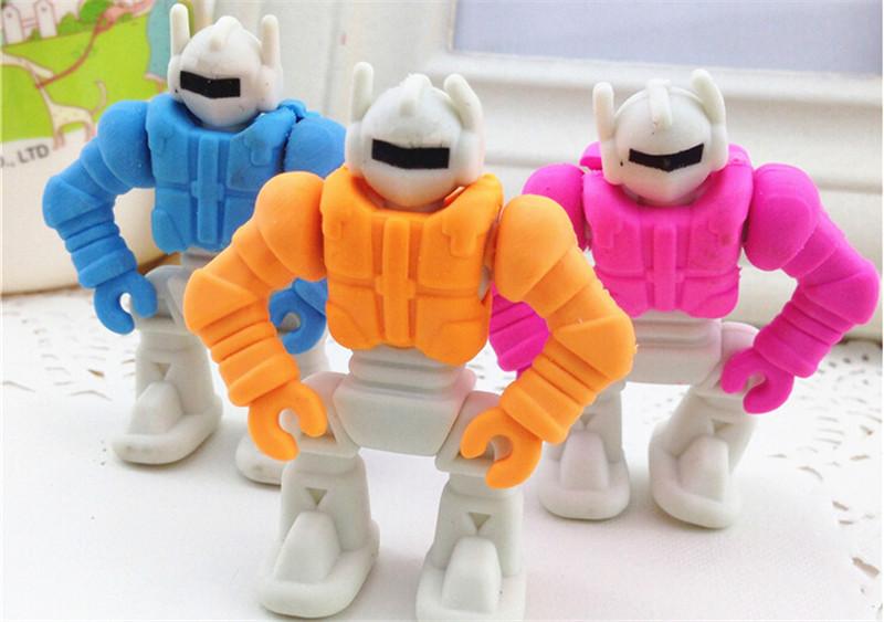 创意文具可拆卸机器人橡皮儿童礼品3