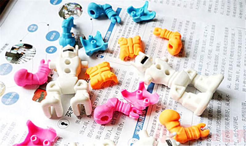 创意文具可拆卸机器人橡皮儿童礼品4