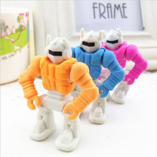 创意文具可拆卸机器人橡皮儿童礼品