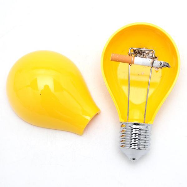 灯泡创意烟灰缸黄色