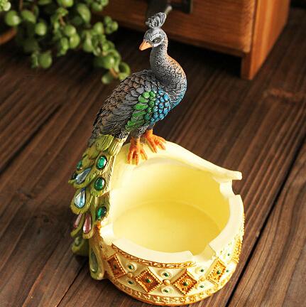 创意孔雀烟灰缸结婚礼物