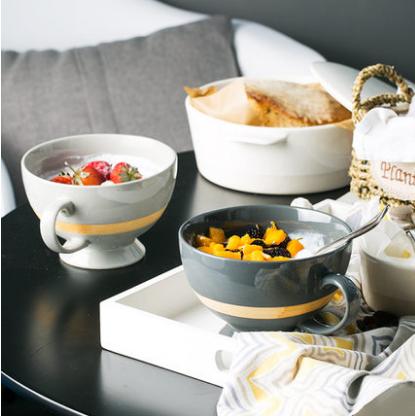 燕麦早餐碗大号牛奶陶瓷杯