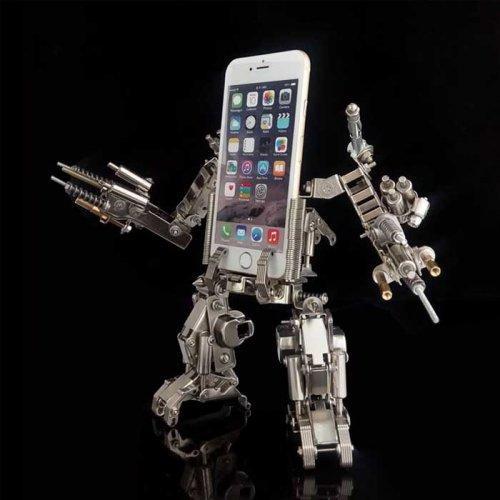 手机支架新奇创意礼品组装机器人机甲