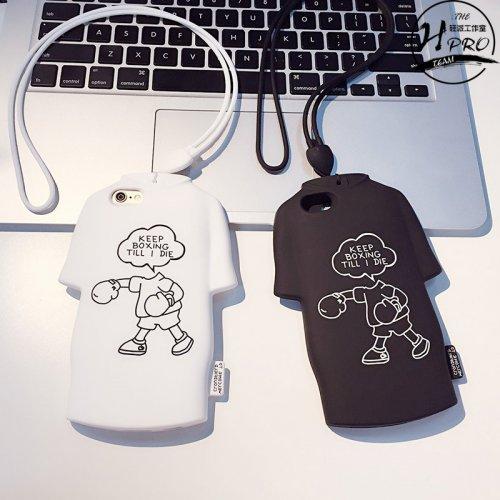 创意T恤iPhone6s6plus挂绳手机壳