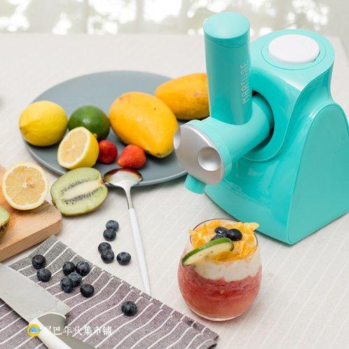 榨冰机沙拉蔬菜水果全自动刨冰机切片切丝机