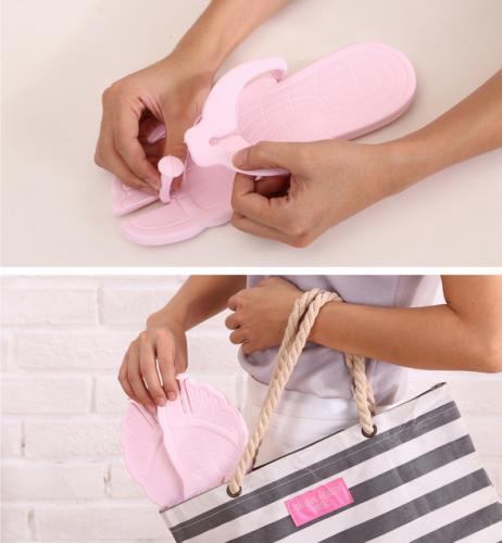 创意旅行人字拖鞋便携式可折叠防滑