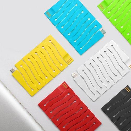 CONNEX创意卡片数据线 苹果安卓充电线 可拉伸