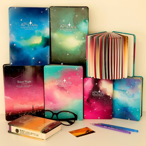 可爱铁皮星空笔记本创意文具
