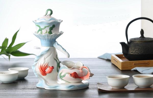 活期珐琅瓷自动茶具4